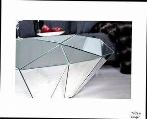 Table Basse Miroir : table basse design table basse miroir diamant facette verre miroir design contemporain id es ~ Teatrodelosmanantiales.com Idées de Décoration