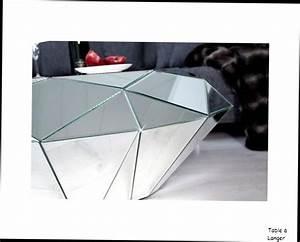 Table Basse Miroir : table basse design table basse miroir diamant facette ~ Melissatoandfro.com Idées de Décoration