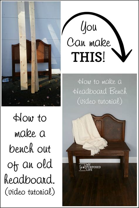 Make A Bench Out Of A Headboard And Footboard by How To Build A Headboard Bench My Repurposed