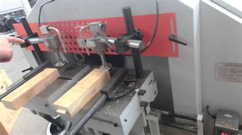 wood tenoning machine youtube