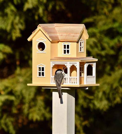 Prairie Farmhouse Lighted Birdhouse Yellow Plowhearth