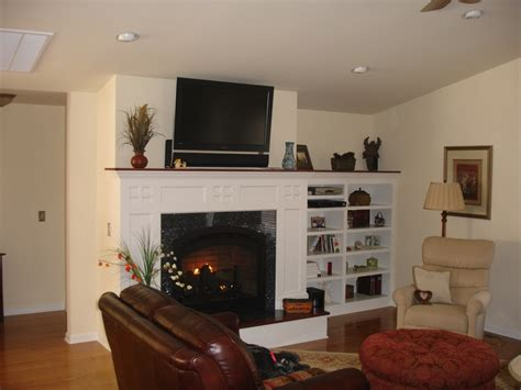 Decorating Ideas Next To Fireplace by Built In Shelving Next To Fireplace Home Project