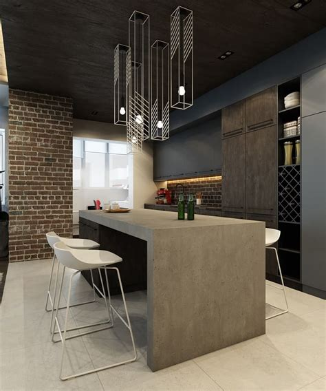 sophisticated interior  industrial style