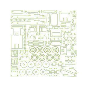 3d puzzle dxf free download image galleries imagekb com puzzles utility truck 3d puzzles