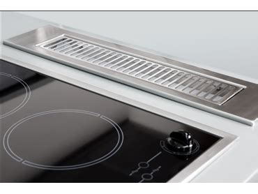 downdraft exhaust fan for unobtrusive kitchen ventilation systems by parmco