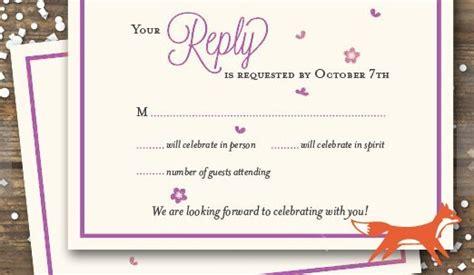 wedding rsvp wording ideas  format  edition rsvpify