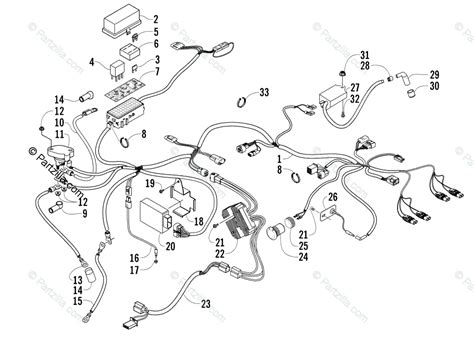 Arctic Cat Atv Oem Parts Diagram For Wiring Harness