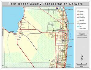 Palm Beach County Road Network- Color, 2009
