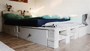 Bett Mit Lattenrost 140x200 : palettenbett selber bauen europaletten bett diy anleitung shop ~ Frokenaadalensverden.com Haus und Dekorationen