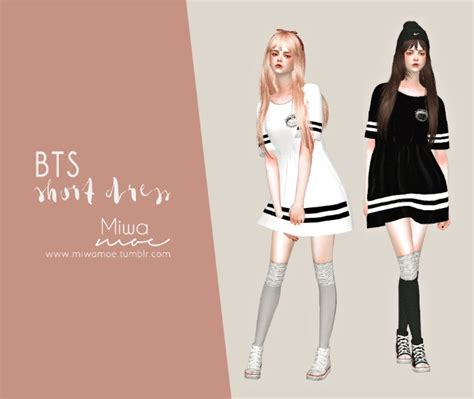 bts short dress  miwamoe sims  updates