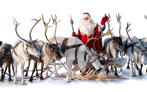 Santa Claus reindeer sleigh wallpaper   2560x1600   80630
