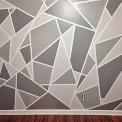 Project nursery v a geometric mosaic wall in grey