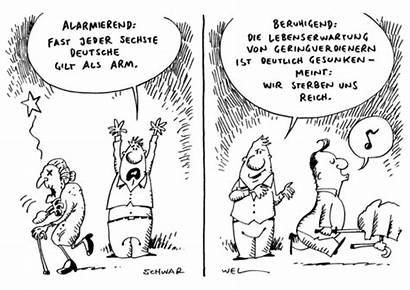 Armut Deutsche Cartoon Karikatur Toonpool Niedriglohn