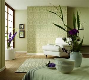 modernes tapezieren mit tapeten in 3d optik With balkon teppich mit glatte tapete ohne struktur