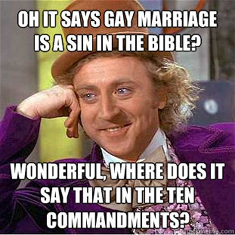 Gay Marriage Memes - marriage bible memes