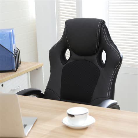 high back race car style seat office desk chair