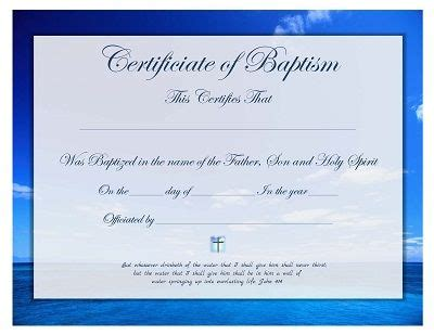 certificate  christian baptism  printable   ages christian baptism certificate