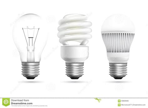 who invented the fluorescent l light bulb evolution design stock vector image 56829095