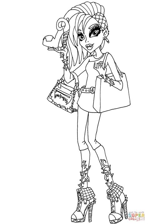 fashion coloring pages venus mcflytrap quot i fashion doll quot coloring page free
