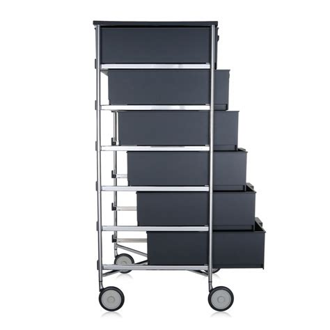 Kartell Mobil by Kartell Mobil Container 6 Drawers With Wheels Panik Design