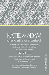 Modern bloom wedding invitation just needs a for Modern wedding invite wording ideas