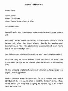 39 transfer letter templates free sample example With internal transfer letter template