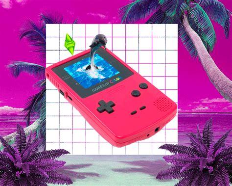90s Game Boy Vaporwave  On Er By Agamari