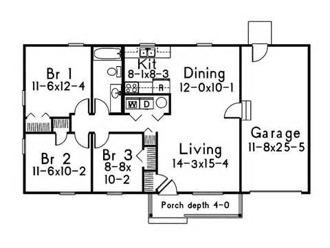 Basic Ranch House Floor Plans