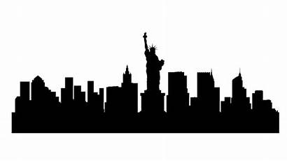 Skyline Silhouette York Nyc Clipart Cliparts