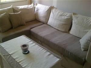 relookez votre canape rapidement trucs et deco With recouvrir un canapé d angle avec du tissu