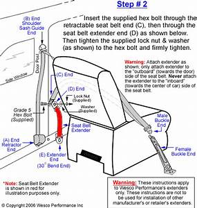 Seat Belt Extension Installation Instructions
