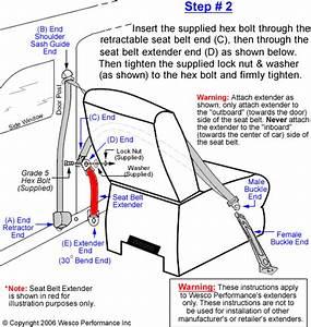 Seat Belt Extension Installation Instructions