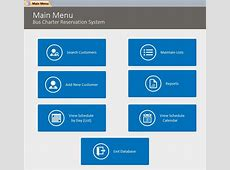 Microsoft Access Bus Charter Reservation Database Template