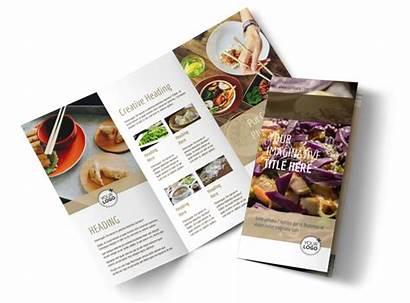 Brochure Restaurant Asian Template Fold Tri Brochures