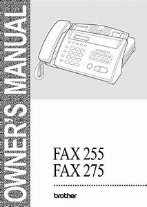 Brother Fax-255 Pdf Manuals For Download