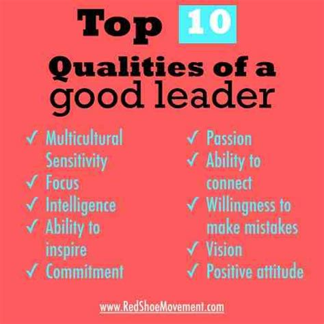 top  qualities   good leader