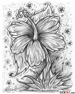 Black Background With White Flower Drawings Stock Photos