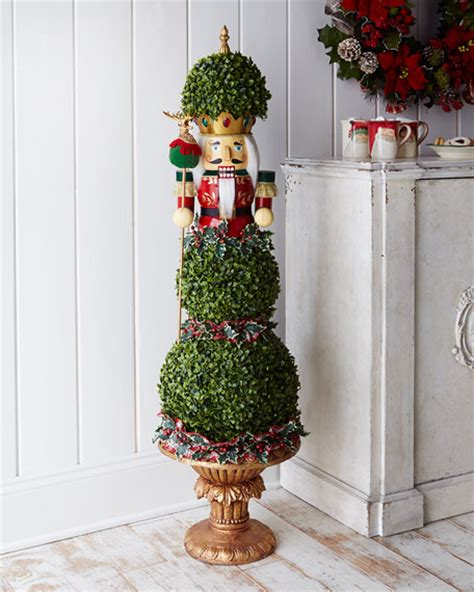 nutcracker christmas topiary