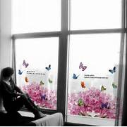 Decorative Floral Glass Shower Door Flower Glass Stickers Decorative Bathroom Sliding Door In Decorative