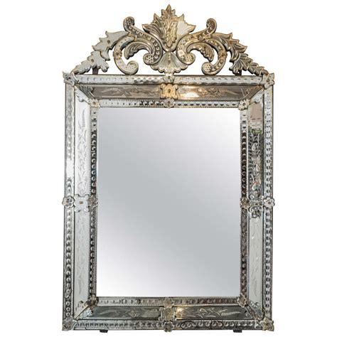 vintage wall vintage venetian beveled wall mirror with etched