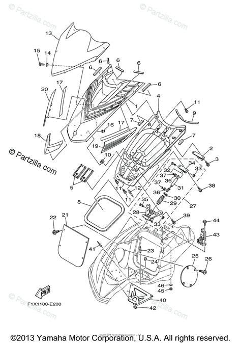 Waverunner Engine Diagram by Yamaha Waverunner 2006 Oem Parts Diagram For Engine Hatch