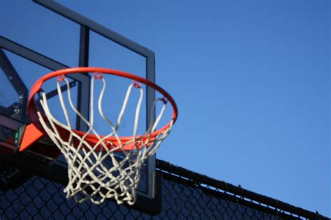 blue  brown basketball hoop  stock photo