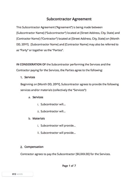 contract templates  agreements   samples