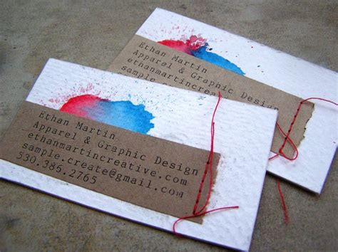 business cards  recycled cereal boxes idsgn  design
