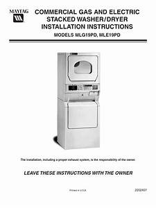 Maytag Installation Instructions For Washer Dryer Models