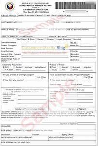 application form dfa passport application form With documents for passport philippines