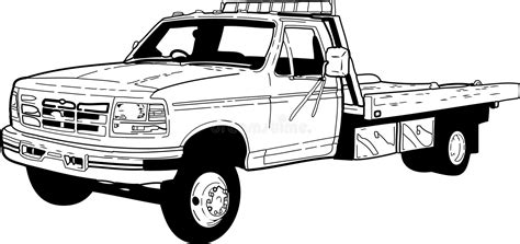 tow truck stock vector illustration  flat haul color