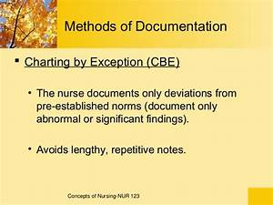 What Is Charting By Exception Examples 1 Documentation And Reporting