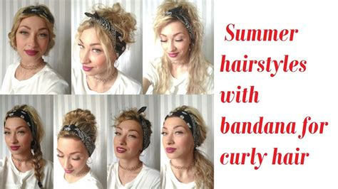 Summer Hairstyles With Bandana For Curly Hair