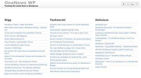 News Aggregator Template by Rss Aggregator Themes For Rss Wp Themes